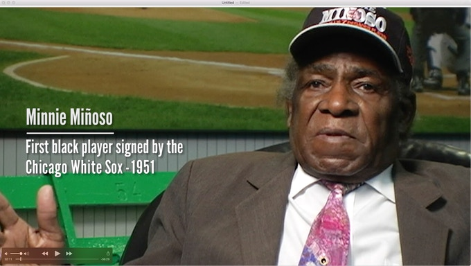 Minnie Miñoso, played in the Negro Leagues and many years with the Chicago White Sox