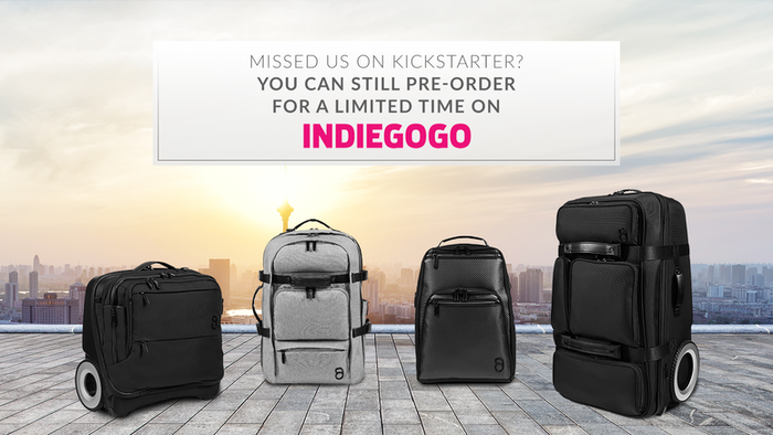 Luggage and backpacks with charging capabilities, unrivaled durability, ergonomic design, and wheels that let you roll over everything.