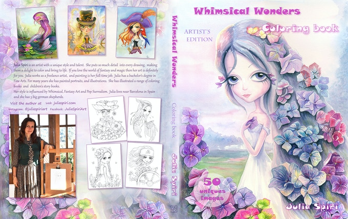 Cover of Whimsical Wonders Coloring Book