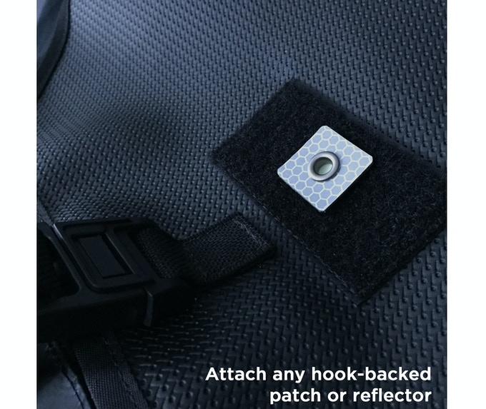 Slap on a hook-backed reflective, glow-in-the-dark or FoF IR patch to be seen at night.  Shown with a third-party reflective accessory, not included.