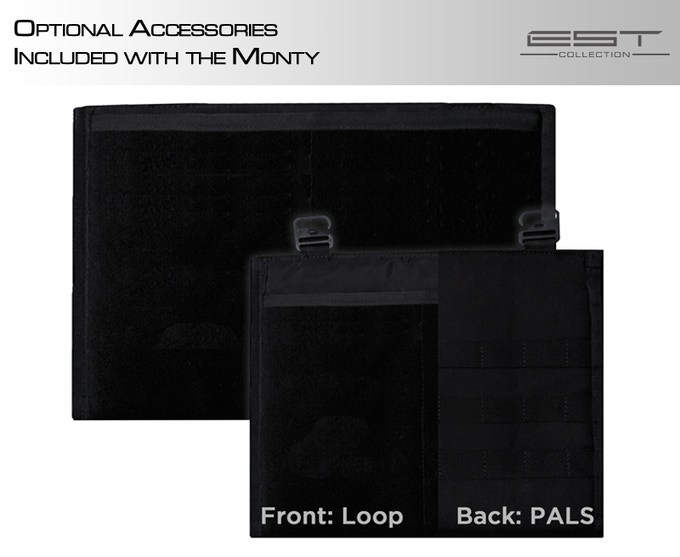 Laptop sleeve and hanging panel are both included in the Monty package.