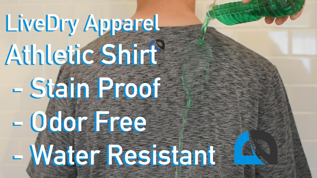 Water Resistant, Stain Proof, and Odor Free Athletic Shirt