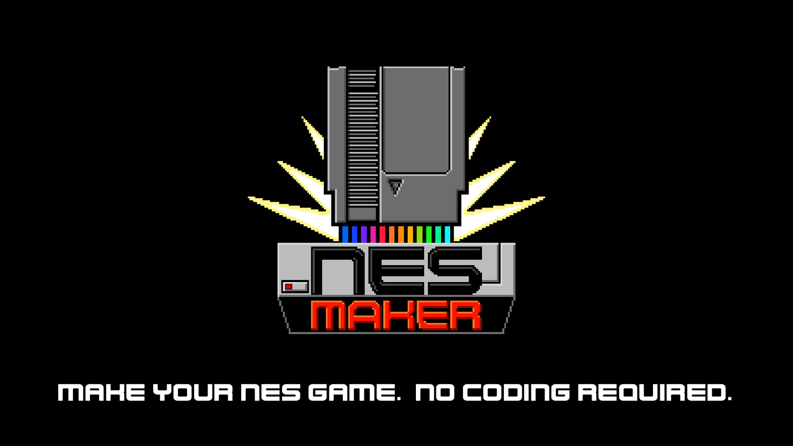 Make new cartridge based, hardware playable games for the NES.  No programming required.