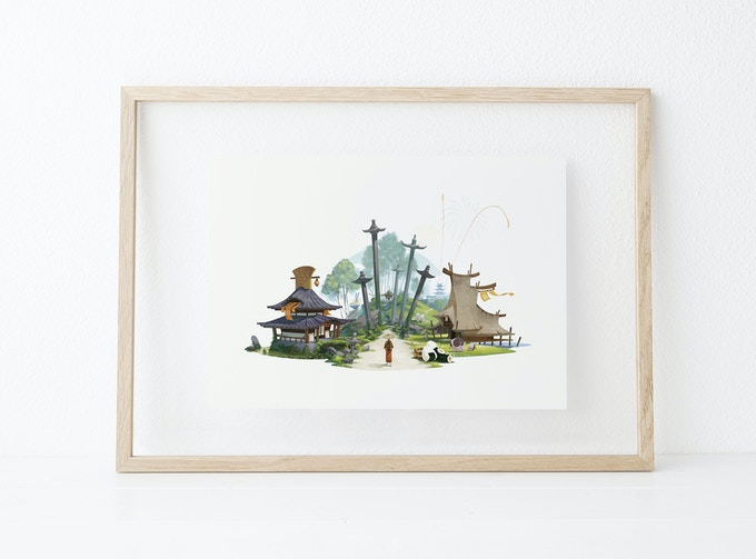 The Tokaido Collector cover art giclee (comes unframed)