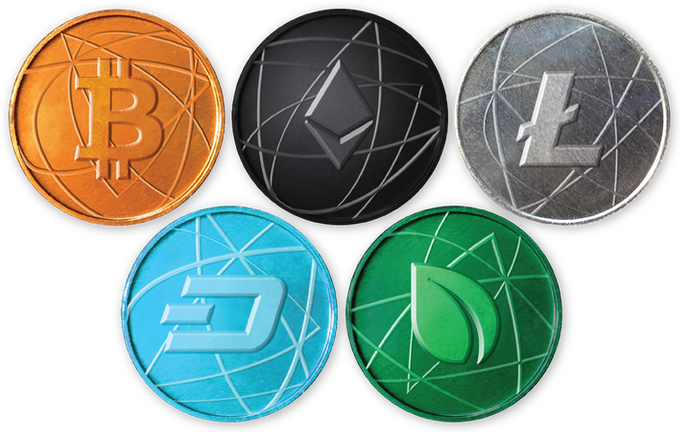 Anodized aluminum coins for miner's pledge