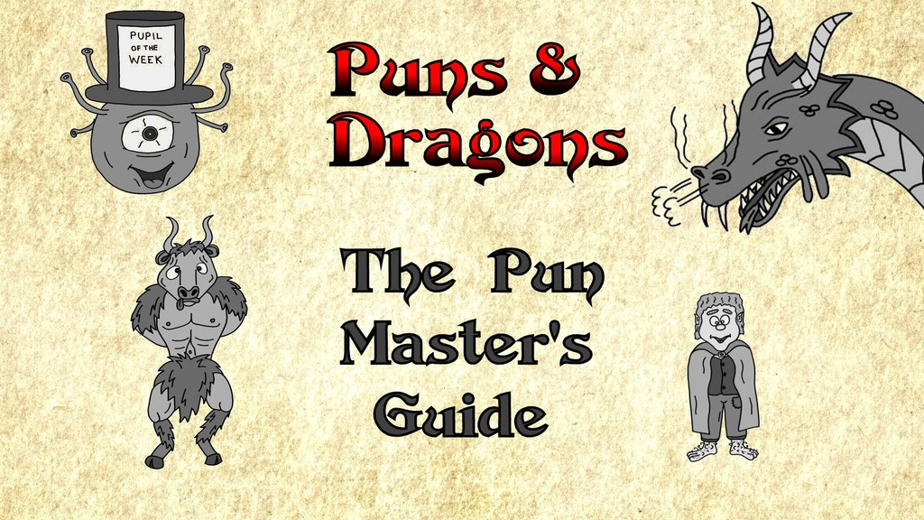 "Puns and Dragons - ""The Pun Master's Guide"" (D&D Jokes) project video thumbnail"