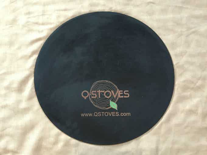 Thick silicone mat to protect decks from stray falling pellets if ever