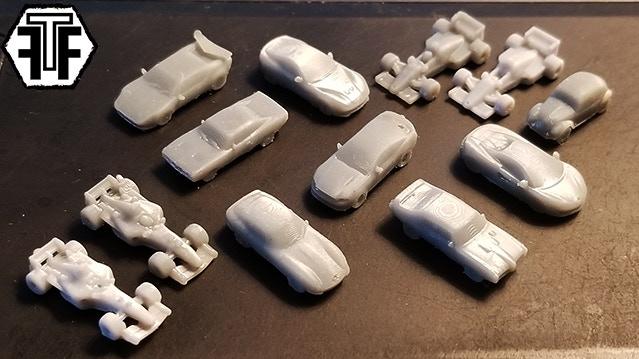 3D Printable Cars (STL Files & Printed Models) by Fickle