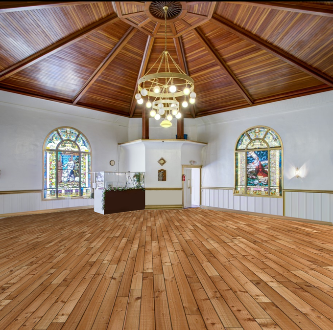 This is how it could be without the pews and carpet