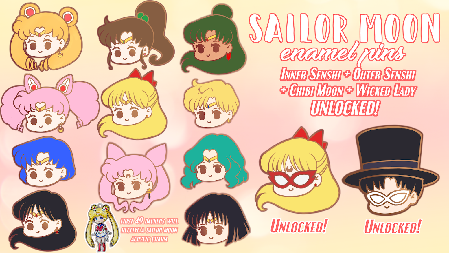 Hoping to bring these Sailor Moon enamel pins to life!