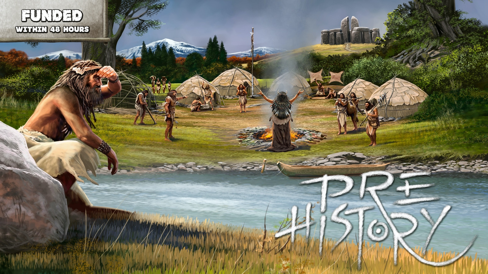 A prehistoric themed strategy board game with unique mechanisms for 2-4 players. With FREE solo mode expansion.