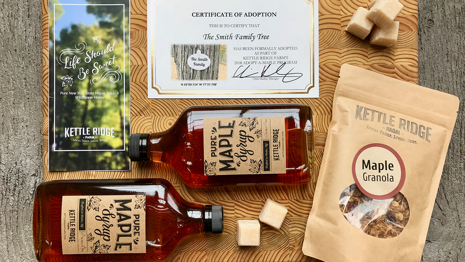 Adopt a maple tree and become part of the maple syrup tradition at Kettle Ridge Farm! www.KettleRidgeFarm.com