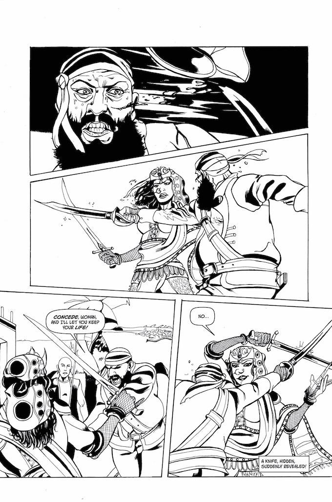 Shanti the Pirate Queen - Artwork by Lorenzo Nicoletta