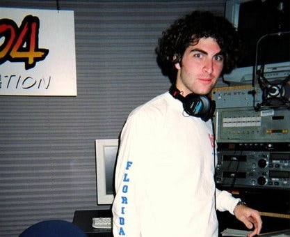 Practicing for the audiobook when I was a radio DJ in 2007.