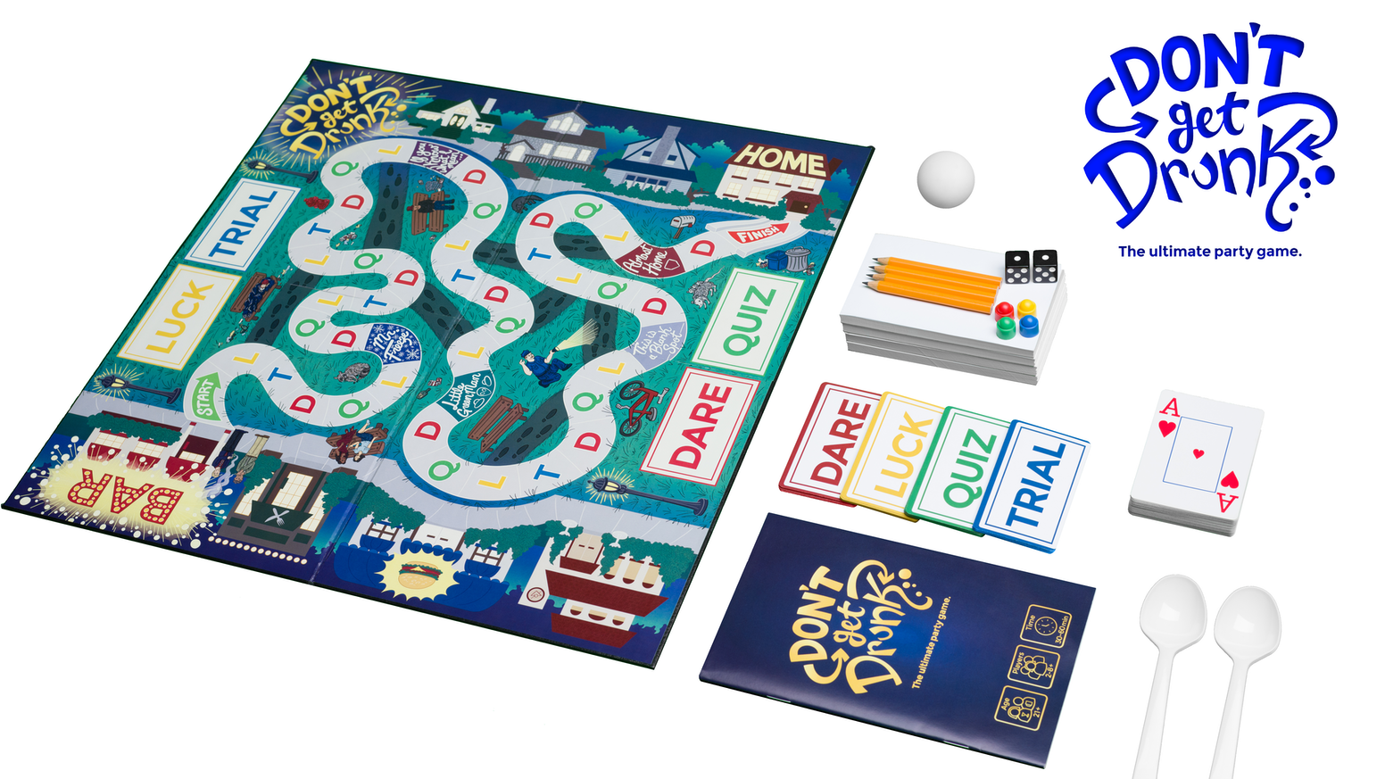 Don't Get Drunk is the ultimate party game; full of laugh out loud fun! Don't Get Drunk is perfect for your next game night. Missed the campaign?? Click the button below to order a copy from Amazon!