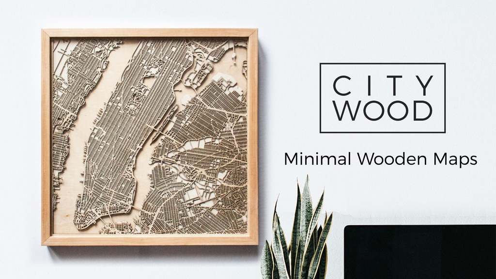 CityWood - Minimal 3D Laser Cut Wooden Maps project video thumbnail