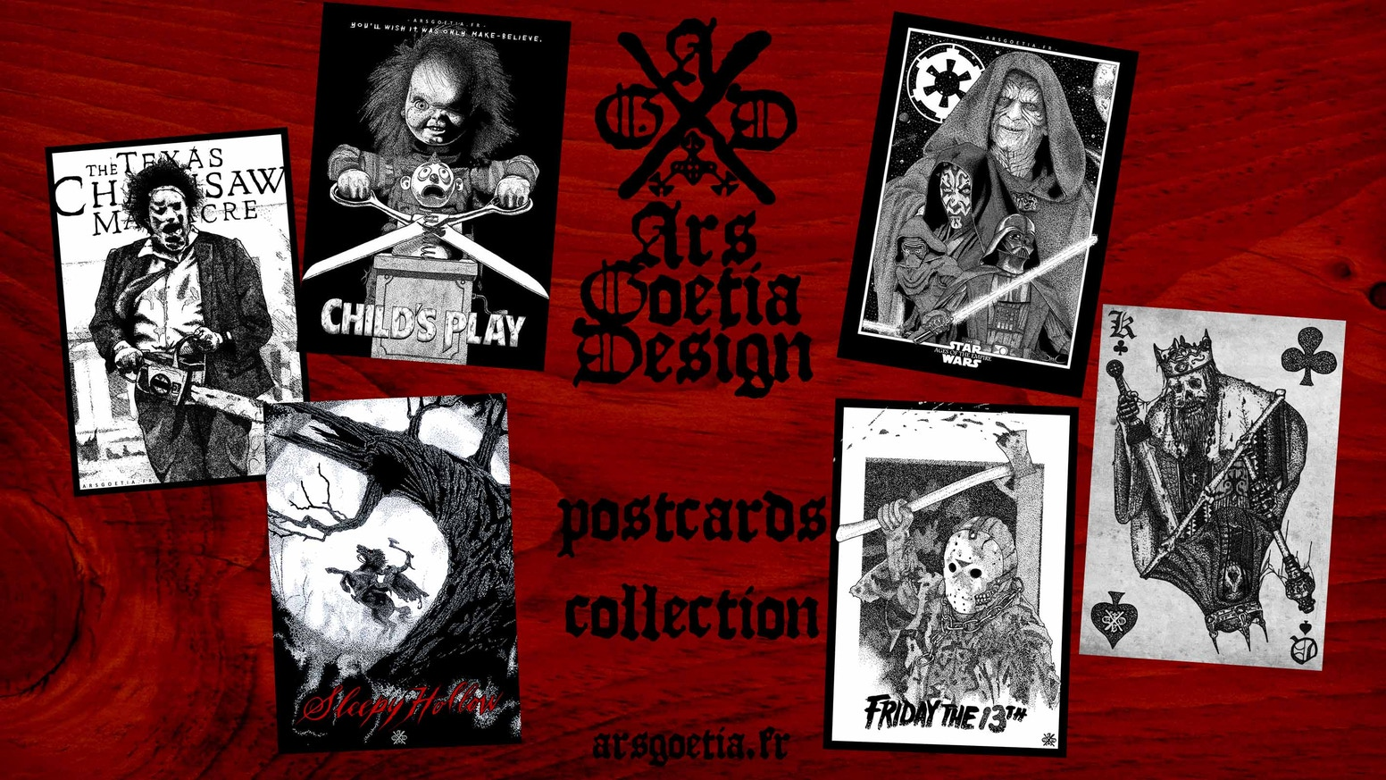 Horror & Sci-Fi Postcards (Sleepy Hollow, Star Wars,...)