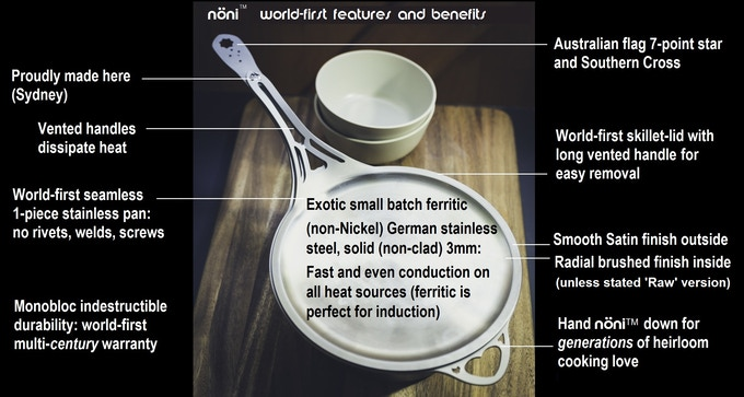No stainless cookware in history has come with this array of multi-generation benefits.