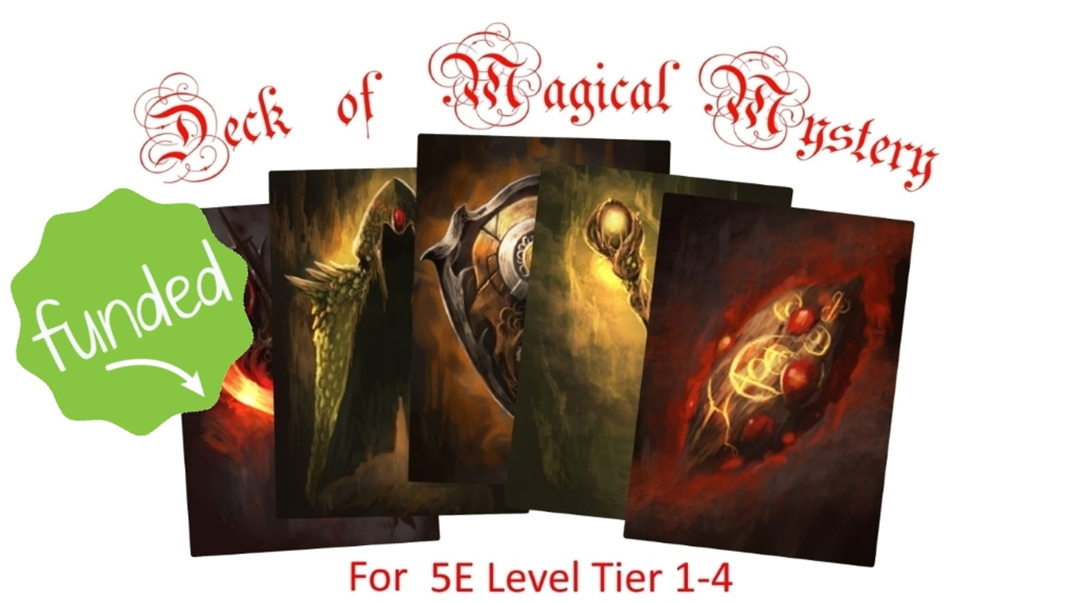 A complete 54 card deck of Unique Random Magic Item Cards for D&D 5E (or other fantasy RPG's) for apprentice-level characters tier 1-4