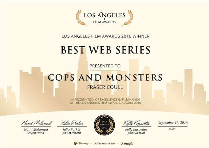 One of our awards for Best Web Series