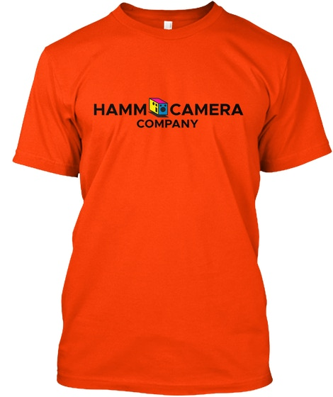 Tee Shirt Reward: Hamm Camera Company Logo on front