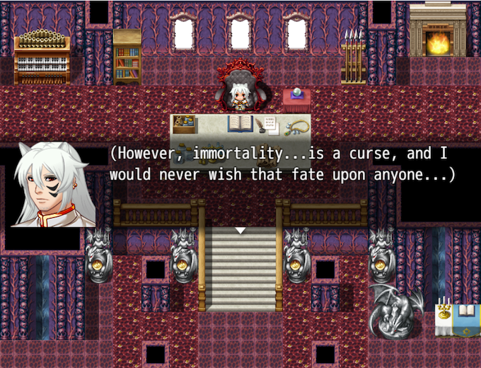 James: (However, immortality...is a curse, and I would never wish that fate upon anyone...)