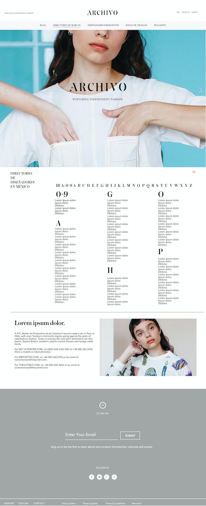 Directorio de Marcas // Brand Directory