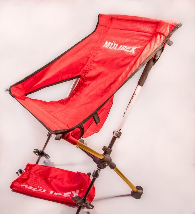MUHL™ Chair - Red Diamond Ripstop