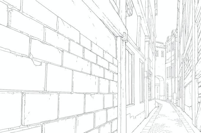 Gamla Stan Alley - BG Designed by William Niu