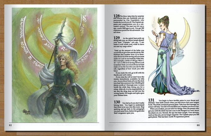 A sample spread in the color edition (Pledge: Paragraph E)