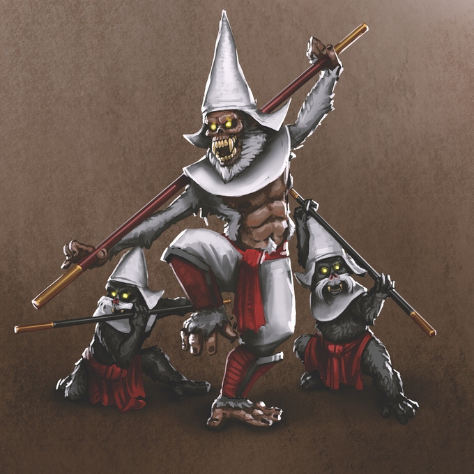 New Enemies: Monkey Monk and the Fangy Bunch