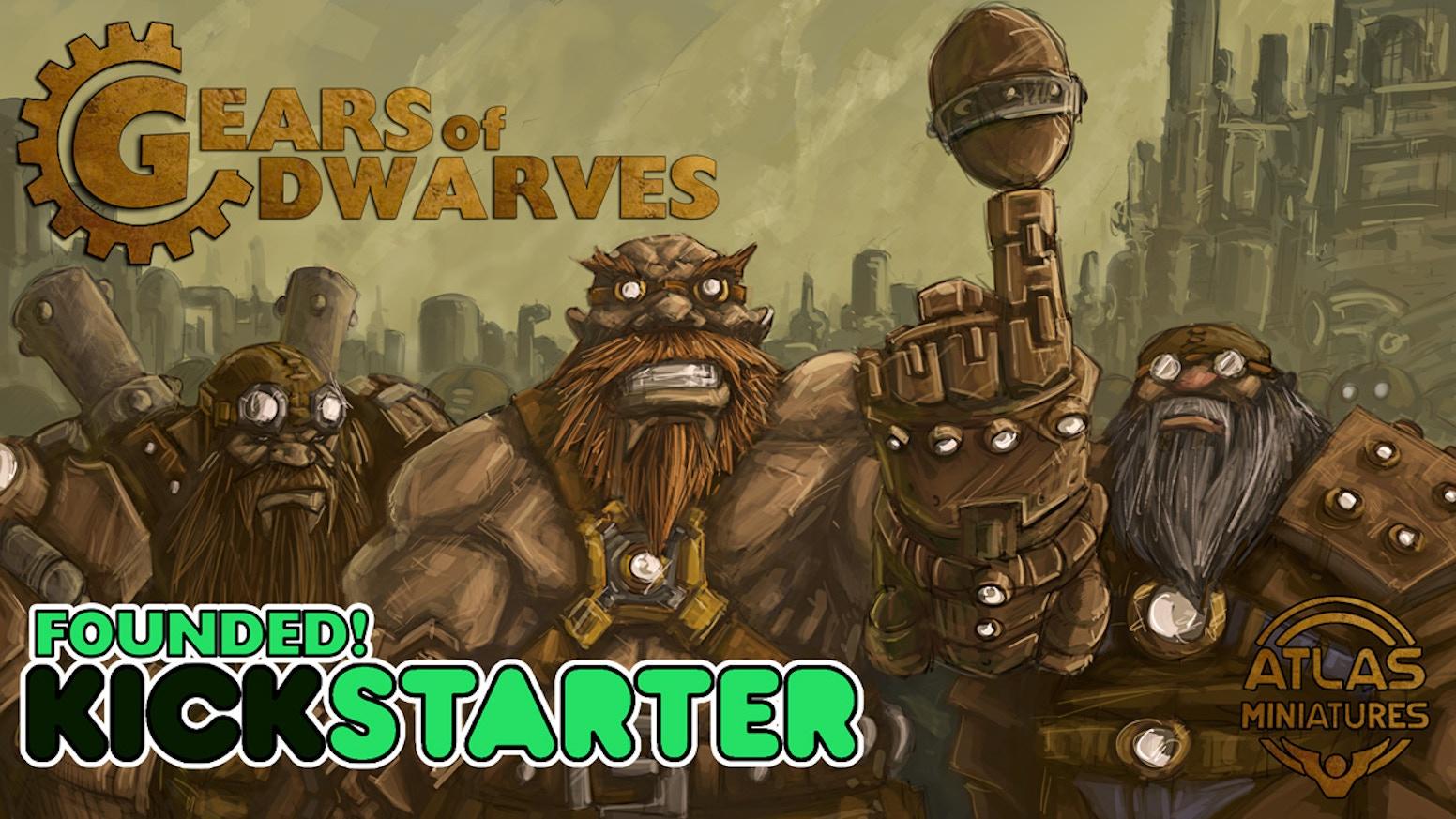 gears of dwarves fantasy football team atlas miniatures by atlas