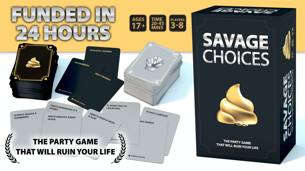 SAVAGE CHOICES - The Party Game That Will Ruin Your Life project video thumbnail