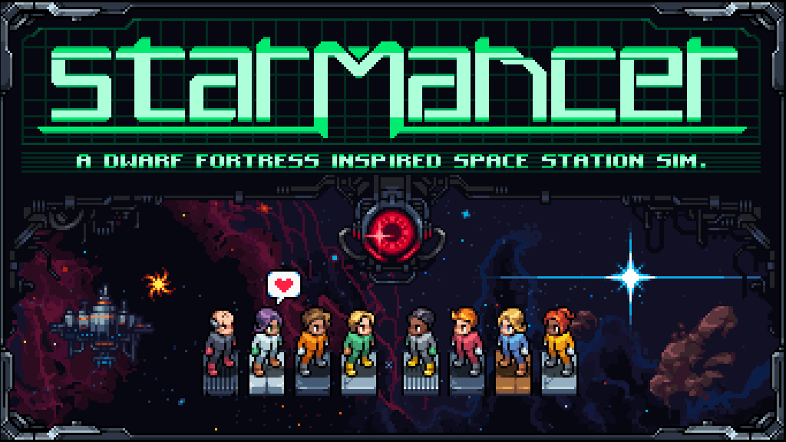 Dwarf Fortress Inspired Space Station Sim