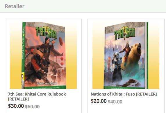 A snapshot of the retailer-only options available for Khitai
