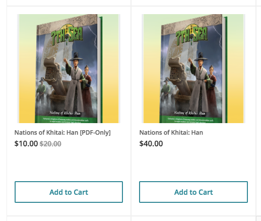 Han PDF-only and hardcover levels