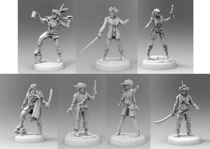 7 new miniatures to match original game's characters.