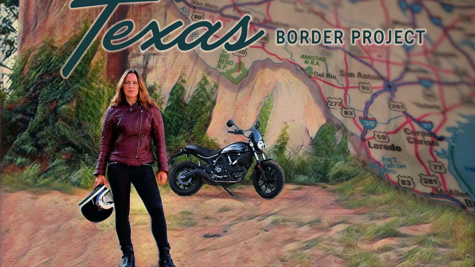 March 19, 2018: Aimee Bobruk is riding a motorcycle along the Texas/Mexico border and making a documentary film.