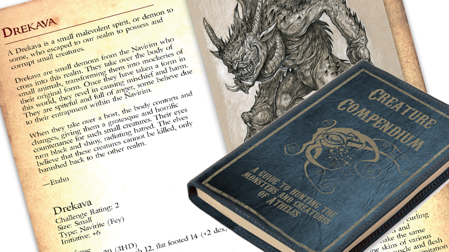 Be a Part of Bringing the SagaBorn Roleplaying Game's Creature Compendium to Life