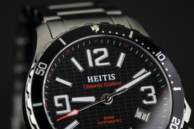 Deep Press Dial Black with Red Accents