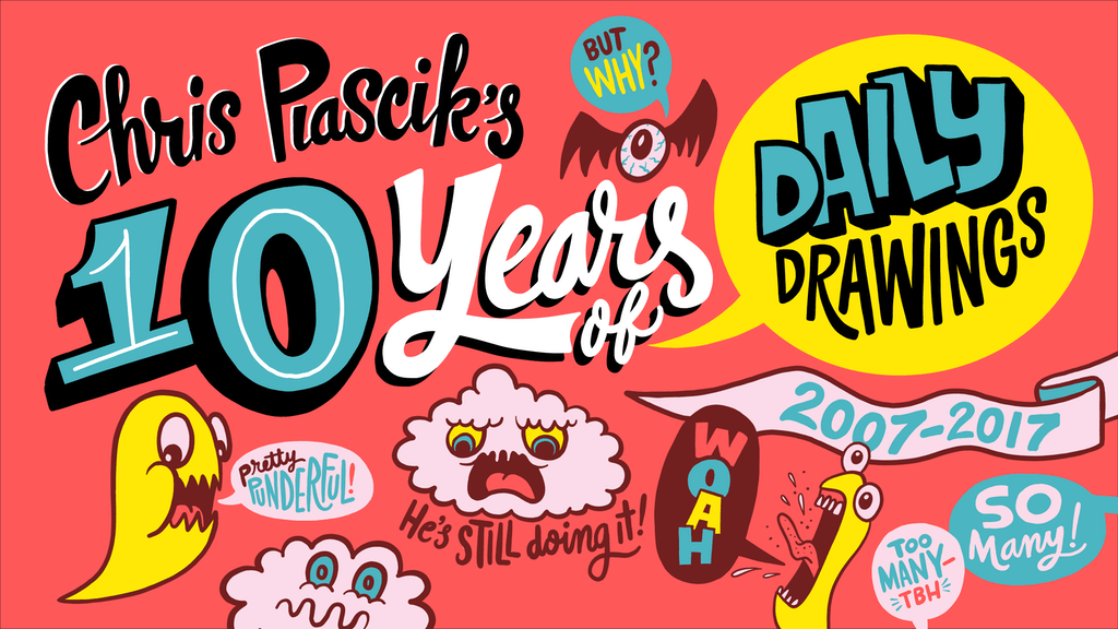 10 Years of Daily Drawings, a book project video thumbnail