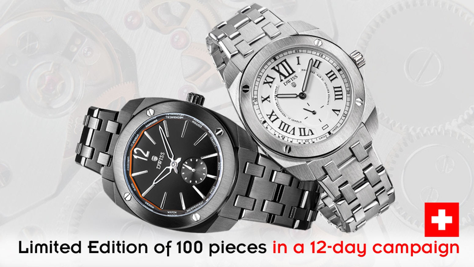 Make 100 Top Grade Swiss Made Mechanical Hand Wound Watches By Dwiss Pins 457 And 8 Will Carry The Power It Could Be Only Two Of These After Raising More Than 600k This Design Awarded Company Is Back With A Luxury