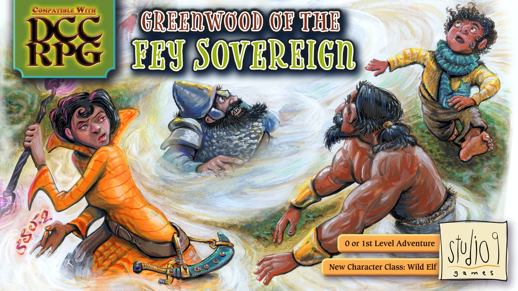 DCC RPG compatible adventure: Greenwood of the Fey Sovereign project video thumbnail