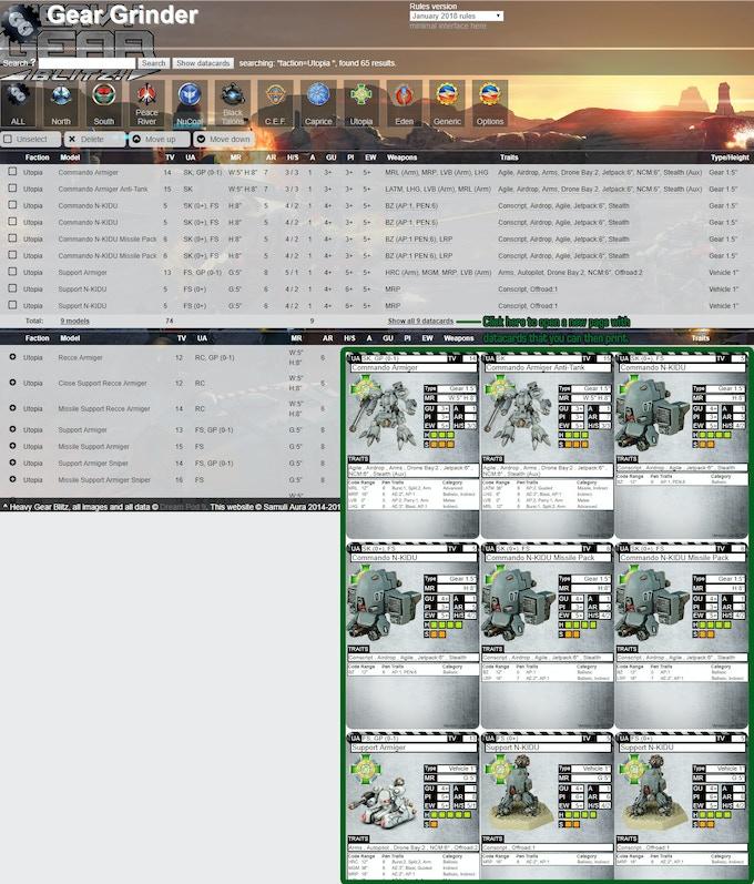 Gear Grinder Website.