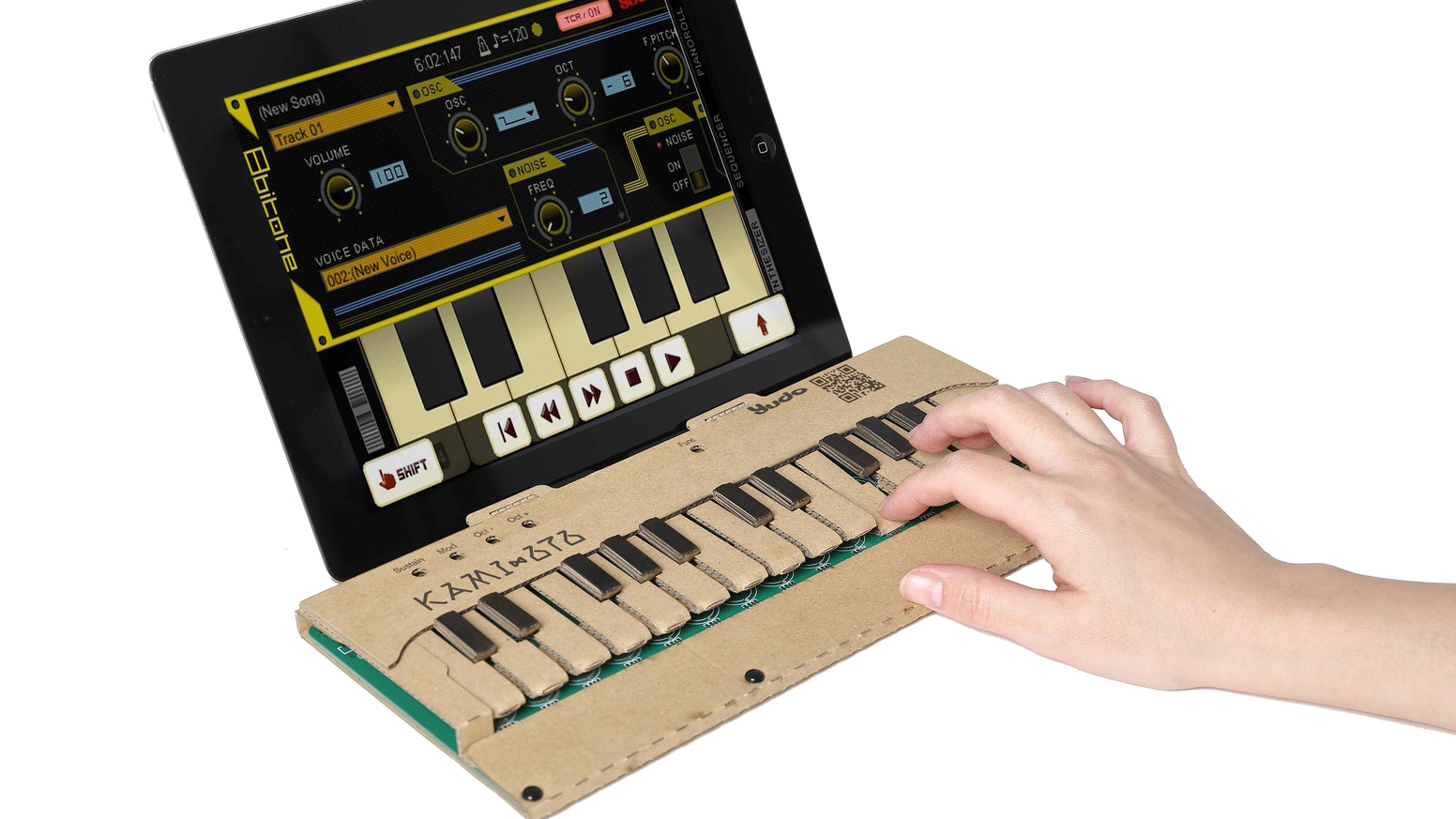 Diy Cardboard Musical Keyboard Kit Kami Oto By Reo Nagumo Kickstarter Electronic Projects Simple Easy And Fun Make Own Play With