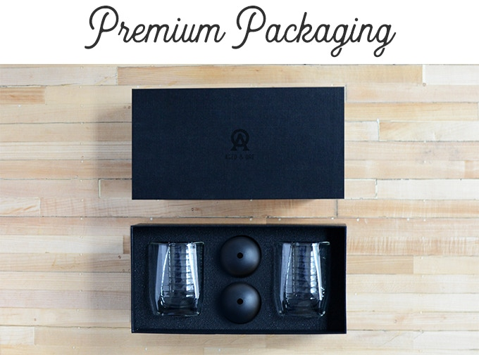 Premium gift box packaging makes the Duo Glass an experience to receive - and worthy of a gift.