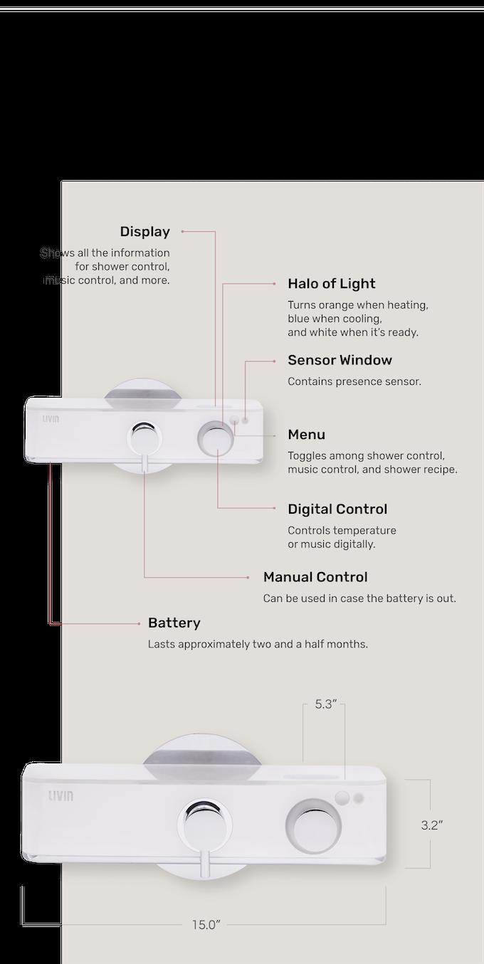 Livin - Shower, redesigned in a smart way  by Livin — Kickstarter