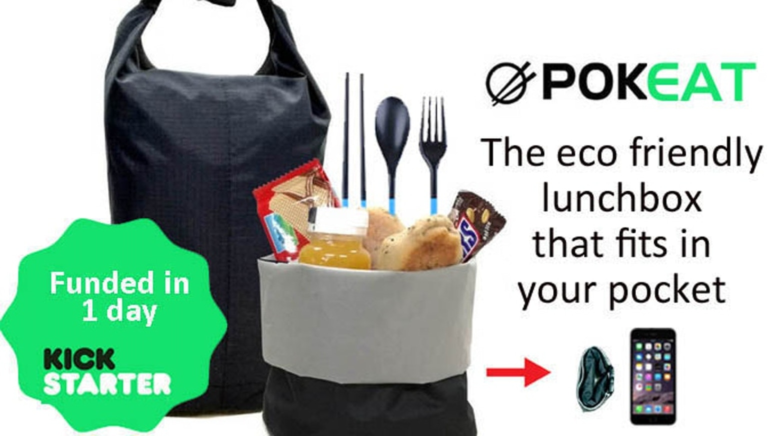 The eco go anywhere lunchbox that takes up zero space in your bag. Easy clean. No more plastic bags.