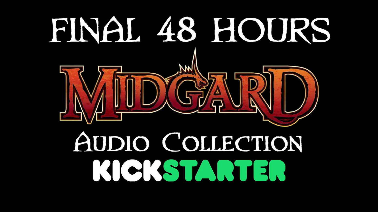 82 fantasy tracks from The Midgard Audio Collection were unlocked, Pre-order now on Backerkit!