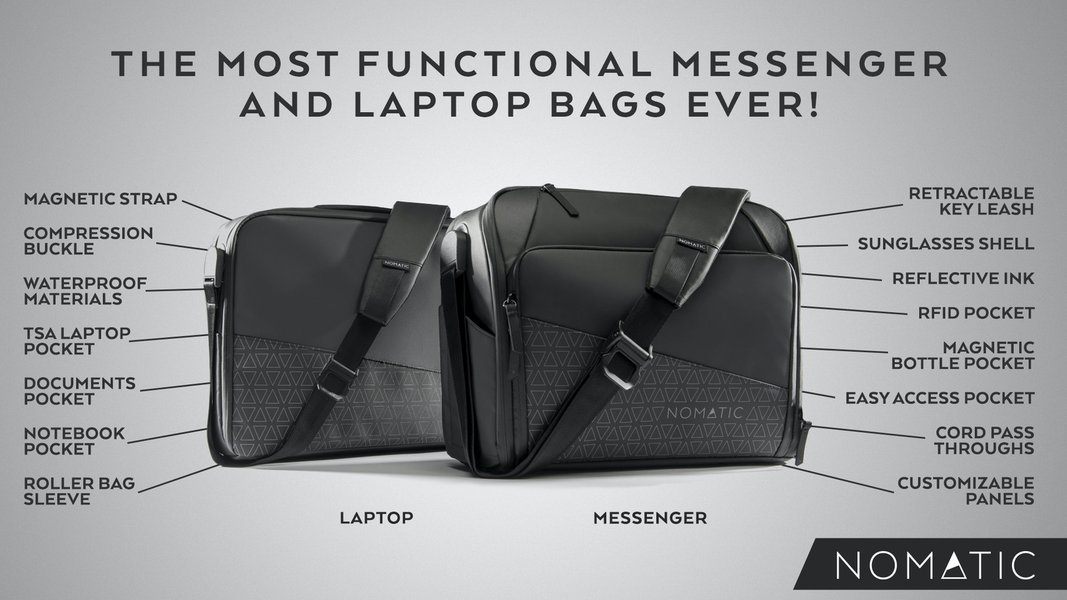 cbd804161c1 The NOMATIC Messenger and Laptop Bags by NOMATIC — Kickstarter